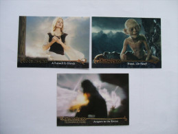 3 Cartes THE LORD OF THE RINGS Le Seigneur Des Anneaux N° 28, 106 Et 120 - Eowyn, Aragorn, Gollum - Topps Trading Cards - Lord Of The Rings