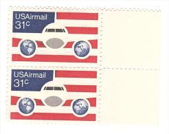 ETATS UNIS - USA - TIMBRE - PAIRE - AVIATION - 31c - 1977. - United States