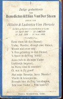 Devotie - Doodsprentje Benedictus & Elias Van Der Steen - Lede 1907 - 1909 - Imágenes Religiosas