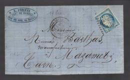 FRANCE N° 60 Obl. S/Lettre Entiére GC 3219 A Rouen Saint Sever - 1871-1875 Ceres