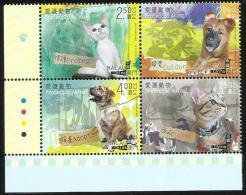 2014 MACAO/MACAU PROTECT ANIMAL STAMP 4V - 1999-... Chinese Admnistrative Region