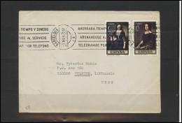 SPAIN Brief Postal History Envelope ES 028 Personalities Painting Art - 1931-Hoy: 2ª República - ... Juan Carlos I
