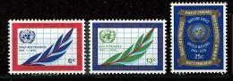 Nations Unies - New York** N° 203 à 205 - 25e Ann. De L'O.N.U. - New York -  VN Hauptquartier