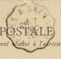 CACHET CONVOYEUR VEYNES A GRENOBLE - Storia Postale