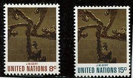 Nations Unies - New York** N° 225/226 - L'art Aux Nations Unies (Peinture) - New York -  VN Hauptquartier