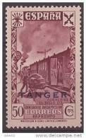 TABE20-A406TTSC.Maroc.Marocco.Historia  Del Correo.TANGER ESPAÑOL Tren.BENEFICENCIA 1943(Ed 20**) Sin Charnela.LUJO - Transporte