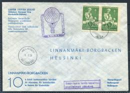 1959 Finland Pro Juventute Ballonpost Barnes Dag Charity Flight Cover / Österreich Sonderballonpost Finnland - Covers & Documents