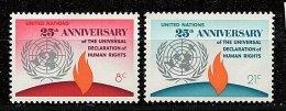 Nations Unies - New York** N° 235/236 - 25e Ann. De La Déclaration Des Droits De L'Homme - New York -  VN Hauptquartier
