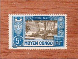 MOYEN - CONGO  --  VILLAGE  --  **  5 C.  ** --  TIMBRE-TAXE  --   NEUF  SANS TRACE DE CHARNIERE - Unused Stamps