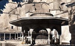 CONSTANTINOPLE - Fontaine De La Mosquee Samte Sophie, Alte Karte Um 1905, Karte Beschnitten - Türkei
