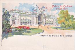23760 Dessin JAPHET - Palais Du Costume - Projet Félix- Facade Palais - Mode Paris - Mode