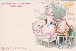 23761 Dessin JAPHET - Palais Du Costume - Projet Félix- Camargo Epoque Louis XV - Mode Paris - Mode