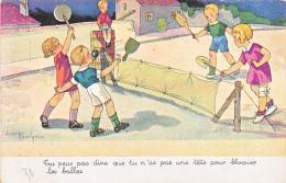 23763 Dessin Hauriyaux Ou Maurivaux -enfant Tennis Jocari - Tete Bloquer Balle - Sans Editeur