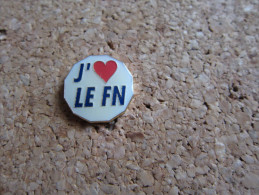 PINS SYNDICAT FN FRONT NATIONAL J'AIME LE FN - Associations