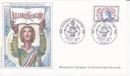 Centenaire De L'Alliance Française, Dessin De Albert Decaris,  FDC 19/02/1983 - 1980-1989