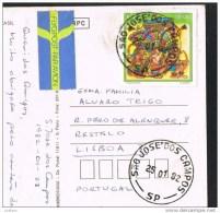 São Jose Dos Campos - Rua 15 De Novembro - Brasil Used Stamp Timbre (2 Scans) - São Paulo