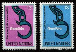 Nations Unies - New York** N° 288/289 - Namibie. Libération, Justice Et Coopération - New York -  VN Hauptquartier