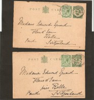 Lot Entiers (4) Obl PETERSFIELD - Stamped Stationery, Airletters & Aerogrammes