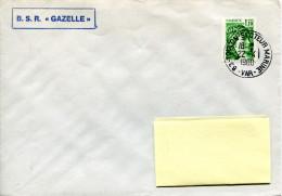 Cachet à Date - 83 Toulon Secteur Marine - 22/04/1980 - Griffe BSR Gazelle - R 905 - Marcophilie (Lettres)