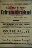 23 - BOURGANEUF - TRES BELLE AFFICHE - CRITERIUM INTERNATIONAL CANOE CLUB - 22 MAI 1960-PAUL GAUMET- CHAMPEVAL ROUER