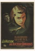 CPM INTERNATIONAL HITCHCOCK CLUB : LA MAISON DU DOCTEUR EDWARDS 1945 - Affiches Sur Carte