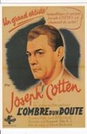 CPM INTERNATIONAL HITCHCOCK CLUB : L'OMBRE D'UN DOUTE 1943 - Affiches Sur Carte