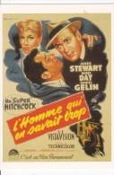 CPM INTERNATIONAL HITCHCOCK CLUB : L'HOMME QUI EN SAVAIT TROP 1956 - Affiches Sur Carte