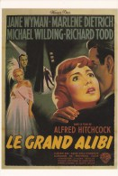 CPM INTERNATIONAL HITCHCOCK CLUB : LE GRAND ALIBI 1950 - Affiches Sur Carte
