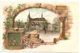 RARE ! Belle CPA De Strasbourg Précurseur Neuve ( Eglise Saint Pierre) Gauffrée (relief) Et En Couleur - Strasbourg