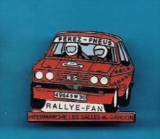 PIN´S //    . PEREZ - PNEUS  RS RALLYE - FAN INTERMARCHE LES SALLES Du GARDON - Rallye