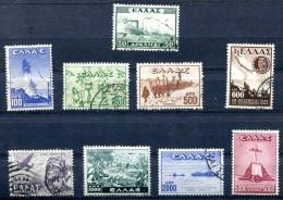 GREECE -1947-48 -  Victory  Used Set Vl. 620 / 628 .YT 545  / 552A. GRECE - Griechenland