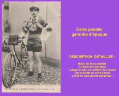 Cpa Cyclisme, Vélo, VALLOTTON, Routier Français. Éditeur CM. Très Bon état. Voir Description Bien Détaillée. - Cyclisme