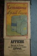MILITARIA GUERRE 1914-1918- BELLE AFFICHE ECONOMISONS LE PETROLE L´ ESSENCE- MARIE LOUISE JEANNINGROS PARIS PEREIRE - Affiches