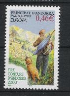 Andorra Fr. 2003 Dog Hund Mi# 601 ** MNH - Ongebruikt