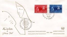 FINNLAND 1960 - 30+40? Frankierung Auf Brief, Sonderstempel Helsinki - Finnland
