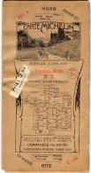 CARTE ROUTIERE SUR TOILE   MICHELIN  N0 7  Verdun/Metz/Sedan/Arlon/Trier/Montmédy/Thionville/Sarreguemines   ANNEES 1920 - Roadmaps