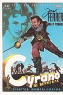 CPM Affiche De Film. Ed Spanish Posters.  CYRANO DE BERGERAC José FERRER - Affiches Sur Carte