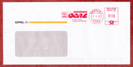 Brief, Francotyp-Postalia F76-6931, Opel Autohaus Benz, 110 Pfg, Nagold 2000 (54222) - Cartas