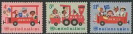 United Nations New York 1966 Mi 171 /3 YT 156 /8 Sc 161 /3 ** Children In Locomotive / Eisenbahn - UNICEF - Treinen
