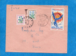 MARCOPHILIE-Lettre GABON   -pour Françe-cadBITAM-1971-Taxée0 40frs -stamp 25frs ICARE - Lettres Taxées