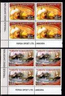 2008 Turkey - 470 Years Of Prevesa Battle / Seaman Day - Blocks Of 4 - Paper - MNH** - Nuevos