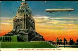 Zeppelin Umkreist Das Völkerschlachtdenkmal Zu Leipzig - Leipzig