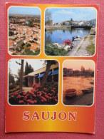 Dep 17 , Cpm  SAUJON , Multivues , 103 , XN 158 (233)Recto/Verso - Saujon