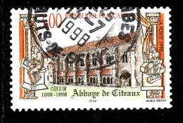FRANCE  1998  -  Y&T  3143    -  Abbaye De Citeaux - Cachet - Used Stamps