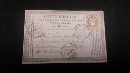 Cérès N° 59 Avec Oblitération Losange 2163 Sur Carte  TB - 1871-1875 Ceres