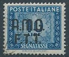1947-49 TRIESTE A USATO SEGNATASSE 10 LIRE - ED382 - 7. Trieste