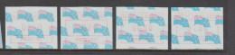 New Zealand 1988 Frama Machine Labels On Flag Background Part Set 4 MNH - New Zealand