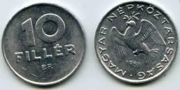Hongrie Hungary 10 Filler 1981 KM 572 - Hungría