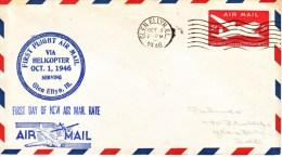 US  ARO PHILETHELIC  HELICOPTOR MAIL  COVER  1946 - 2c. 1941-1960 Covers