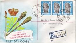 MALAYA  FDC  COVER  CORONATION  1961 - Malayan Postal Union